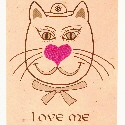 Valentine Cat card